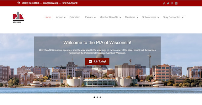 New PIAW Website Home Page
